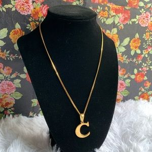 Jewelry - 18k italy gold Filled necklace w/ letter C p.